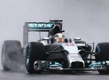 Lewis Hamilton con la F1 Mercedes 2014