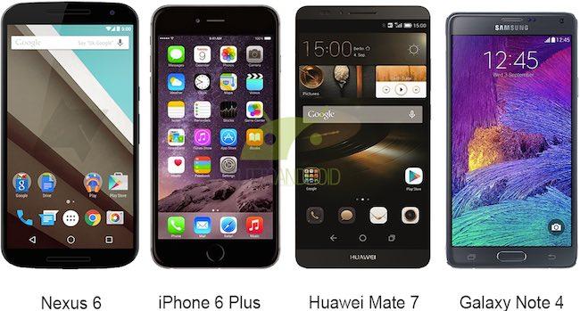 Nexus 6 a confronto