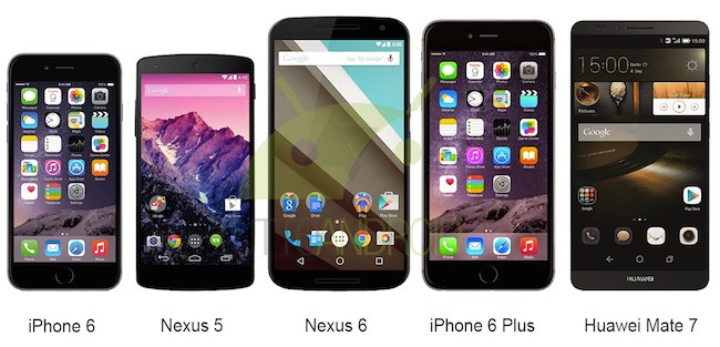 Diaplay del Nexus 6 a confronto