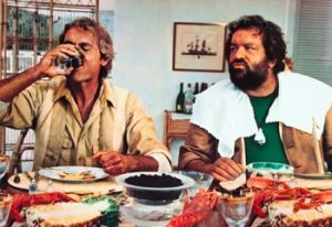 But Spencer e Terence Hill a tavola